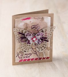 "Stampin' Up! ""Butterfly Basics"" stamp set creates such lovely collaged cards, and when paired with the Butterfly Thinlits, the layers go on for days! ..."