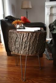furniture wood stump side table we snapped a ton of photos of the table in it39s new home as a side table between our two couches in the family room