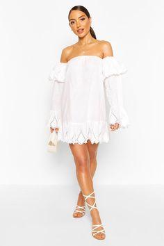 Plus Size Ladies Womens Off Shoulder Bardot Peplum Frill Short Sleeve Mini Dress
