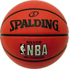 SPALDING NBA Silver Outdoor Basketball by Spalding. $32.03. Designed for play on outdoor courts, the ball has been made with either little or no leather content, and this gives it greater grip and ball-handling. This rubber surface also ensures that the ball is durable enough to withstand the harsher environments of outdoor courts.Great game characteristics and an excellent ball that brings the qualities of indoor basketballs to the outside.