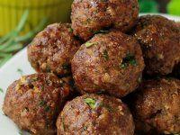 Olasz, zöldfűszeres húsgolyók