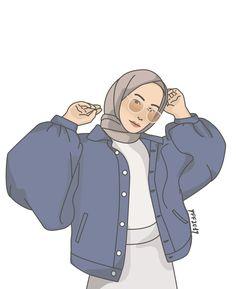 moda emo - Reality Worlds Tactical Gear Dark Art Relationship Goals Illustration Girl, Character Illustration, Simple Illustration, Girl Cartoon, Cartoon Art, Hijab Drawing, Islamic Cartoon, Anime Muslim, Hijab Cartoon