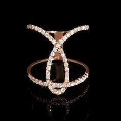 Diamond 18k Rose Gold Ring.
