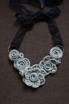 Collana d'argento con cerniera di HeartbeadRenaissance su Etsy