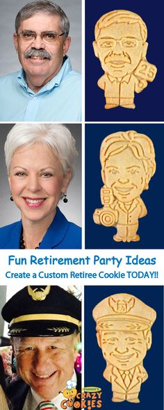 Throw the best Retirement Party ever with custom cookies of your retiree! Although we know your retiree will have lots of retirement wishes, we promise these custom cookies will be a party favour your retiree will never forget! Police Retirement Party, Retirement Wishes, Retirement Celebration, Retirement Party Decorations, Retirement Party Invitations, Military Retirement, Teacher Retirement, Retirement Parties, Retirement Ideas
