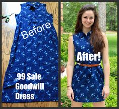 A Goodwill simple dress makeover!!!  Find your perfect makeover dress at your local goodwill: www.goodwillvalleys.com/shop