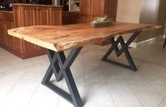 The Diamond Dining Table Legs Industrial by MetalAndWoodDesign
