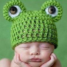 BN Handmade Baby Crochet Frog Cap