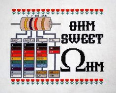 Ohm Sweet Ohm Cross-Stitched Resistor Reference Chart