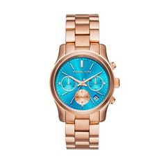 Michael Kors Ladies Rose Gold Chronograph Watch