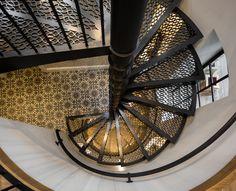 Metal spiral staircase