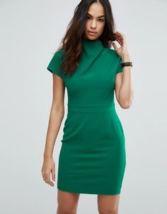 Discover the latest dresses with ASOS. From party, midi, long sleeved and maxi dresses to going out dresses. Shop from thousands of dresses with ASOS. Blue Green Dress, Blue Party Dress, Party Dresses, High Neckline Dress, High Neck Dress, Asos, Bodycon Dress Parties, Latest Fashion Clothes, Work Wear