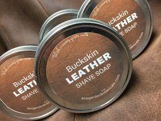 Buckskin Leather  Goats Milk Shaving Soap by ecogardenbotanicals