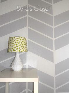 diy herringbone wall @Dara Hanrahan you should do this in your laundry room