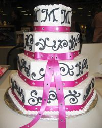 Wedding Cake - California Weddings At: http://www.FresnoWeddings.Net/