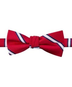 Tommy Hilfiger Boys' Repp Stripe Bow Tie - Red