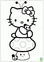 Hello Kitty coloring pages, Hello Kitty coloring book- DinoKids.org