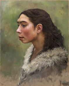 These Neanderthal character studies by Tom Björklund look awesome! Prehistoric Man, Prehistoric Creatures, Early Humans, Human Evolution, Anthropologie, Stone Age, Ancient Aliens, Portraits, Archaeology