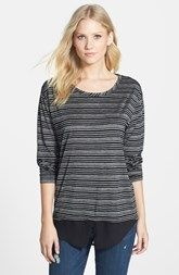 Two by Vince Camuto Shirttail Hem Stripe Tee