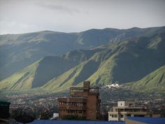 View of the Andes from Cochabamba
