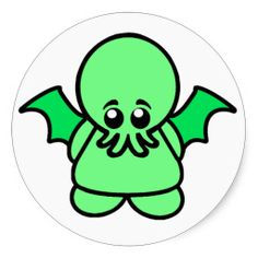 The fearsome Cthulhu as a cute little kid.