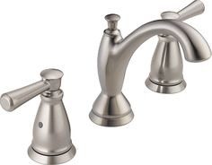 Delta Faucet 3593-SSMPU-DST Two Handle Widespread Bathroom Faucet, Stainless,