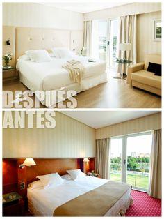 El antes y el después de nuestras maravillosas habitaciones.
