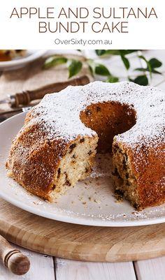 Apple and Sultana Bundt Cake - With cinnamon, nutmeg and apple, the ...
