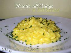 Risotto al formaggio Asiago e Zafferano Ecco la ricetta di un primo piatto tanto semplice quanto irresistibile del Risotto al formaggio Asiago e Zafferano:.