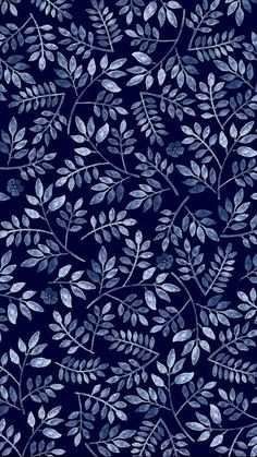 Pattern Play Foliage, by Mahani Del Borrello, for Picturette. Phone Backgrounds, Wallpaper Backgrounds, Wallpaper Art, Screen Wallpaper, Blue Backgrounds, Textures Patterns, Print Patterns, Floral Patterns, Color Patterns