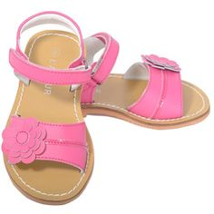 b5fcdf286490 L Amour Little Girl 12 Fuchsia Flower Spring Summer Sandal Shoe
