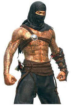 m Monk Cloak Bracers Dagger Fists male lg Fantasy Male, Fantasy Warrior, Fantasy Rpg, Dnd Characters, Fantasy Characters, Character Concept, Character Art, Science Fiction, Paladin