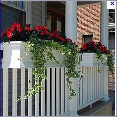 railing with planter