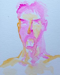 "My art practice was suffering from my 'cold' as well so I have it a good kick in the teeth with some fuscia aka rose tyrien. Morning self portrait watercolor and gouache on paper. ""The human soul needs actual beauty more than bread. "" -D. H. Lawrence. . . #abstractpainting #seattleartist #krystyphyr #contemporaryart #paintingoftheday #artoftheday #impressionism #expressionism #fineart #oilpainting #watercolor #sketchbook #canvaspainting #beautifulart #storytelling #palette #heartart…"
