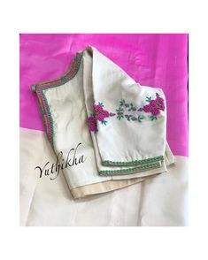 Hand Embroidery Dress, Embroidery Fabric, Fancy Blouse Designs, Saree Blouse Designs, Latest Embroidery Designs, Blouse Models, Work Blouse, Blouse Patterns, Sleeve Designs