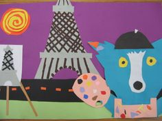 """Blue dog lesson Could Blue dog become a """"famous"""" artist""""? hummm"""