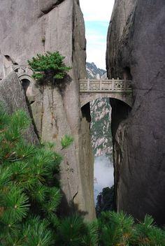 Buxian Bridge, Xihai Grand Canyon, Huangshan, China