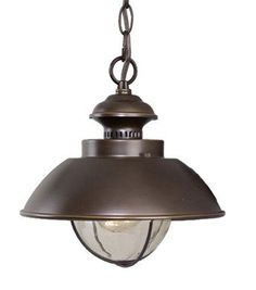Vaxcel Lighting OD21506BBZ Burnished Bronze Single Light Outdoor Pendant from the Harwich Collection $84.00 (entryway).