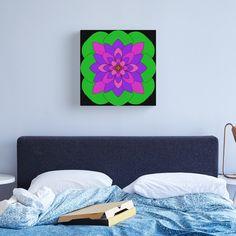 """Mandala Lotus Flower "" Canvas Print by Pultzar   Redbubble"