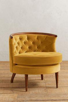 Slide View: 1: Velvet Bixby Chair
