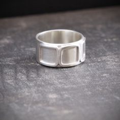 recycled sterling silver ring