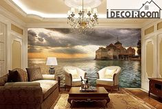 Castle Wall Paper Wall Print Decal Wall Deco Indoor wall Mural wallpaper