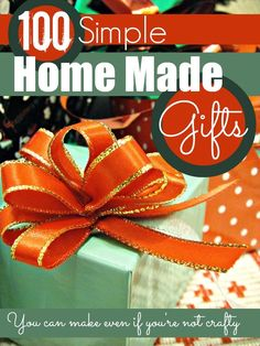 100 simple home made gifts you can make even if you're not crafty @Maaike Anema Anema Anema Boven make lists ... #Christmas