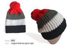 Modelo 002 Gorro negro-blanco-rojo   mgl b229b3ab764