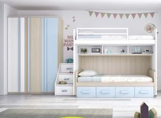 Tiny Bedroom Design, Modern Kids Bedroom, Teen Bedroom Designs, Kids Room Design, Girls Bedroom, Bedroom Decor, House Bunk Bed, Bunk Beds With Stairs, Bedroom Storage For Small Rooms