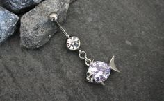 Crystal Belly Ring Belly Button Piercing Navel by MyBodiArt