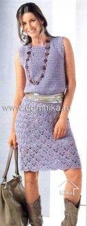 Dress with a fan-like pattern