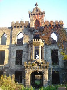 Roosevelt Island (aptly named), a prison island, formerly a sanitarium opened in 1856, now abandoned for more than a half century. It lies between Queens and Manhattan.