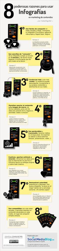 8 poderosas razones para usar infografías #infografia