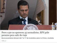 RT @gpelizarraga: ¿Por qué no se niega el permiso para viajar a China a @EPN hasta que aparezcan los normalistas de #Ayotzinapa? http://t.c…- http://www.pixable.com/share/5WkmW/?tracksrc=SHPNAND3&utm_medium=viral&utm_source=pinterest